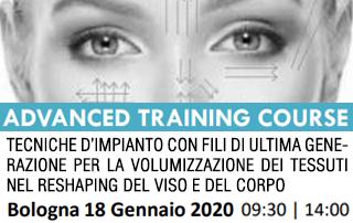 Corso tecniche d'impianto fili viso e corpo – 18-01-2020 Bologna